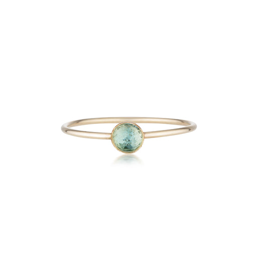 Mini Blue Topaz Ring - Gold