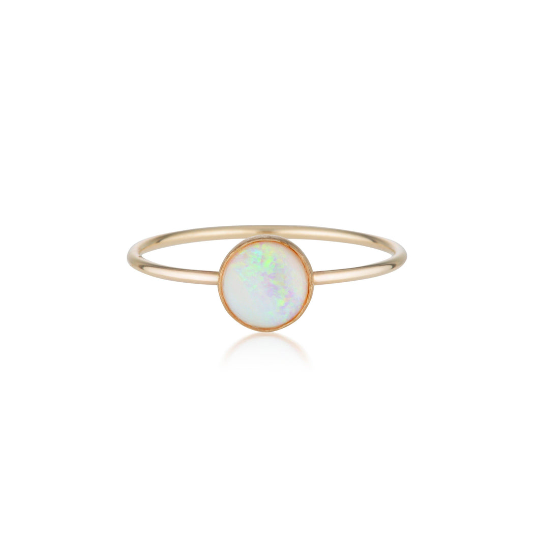 Rainbow Opal Ring - Gold