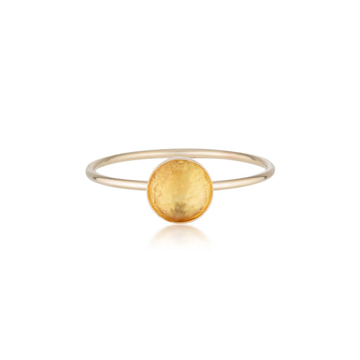 Rose Cut Citrine Ring - Gold
