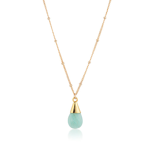 Unicorn Tear Necklace - Gold Amazonite