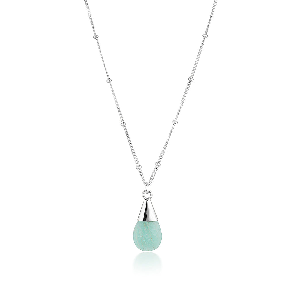 Unicorn Tear Necklace - Silver Amazonite