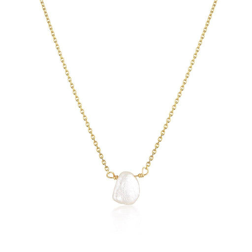 Keshi Pearl Necklace - Gold - Zoe Alexandria Jewellery