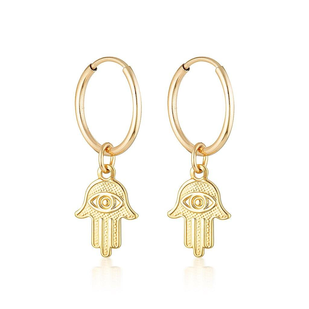 Mini Charm Earrings - Hasma Hand