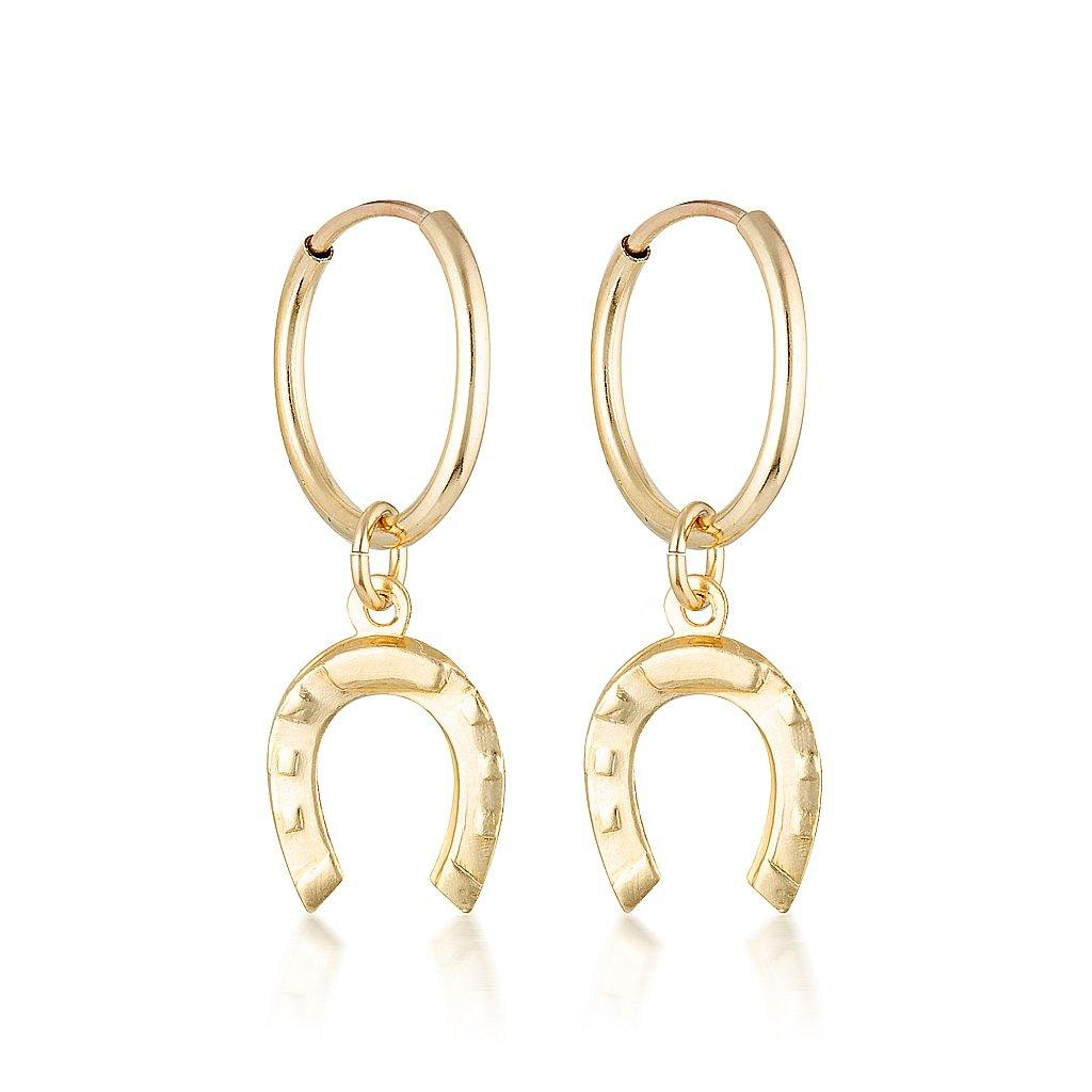 Mini Charm Earrings - Horseshoe