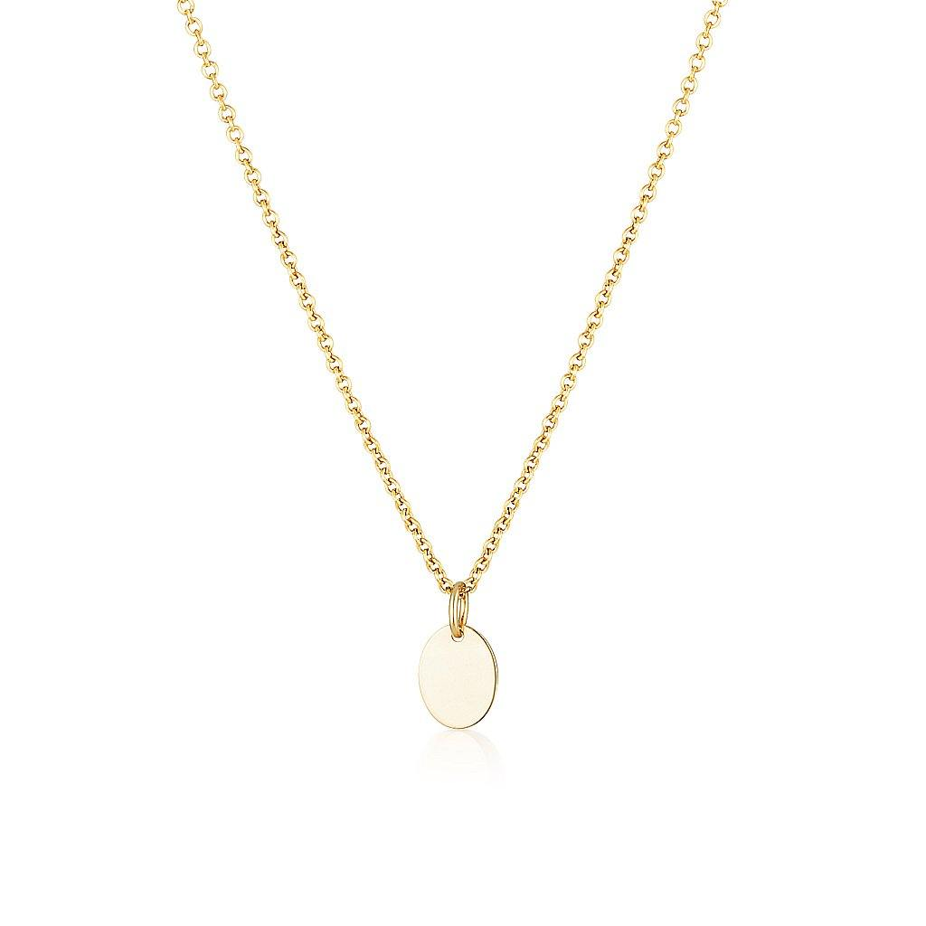 Oval Drop Charm Necklace