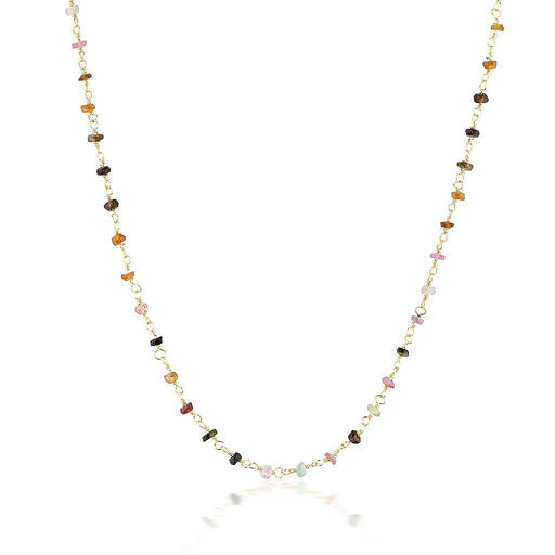 Gemstone Choker - Mixed Tourmaline Gold