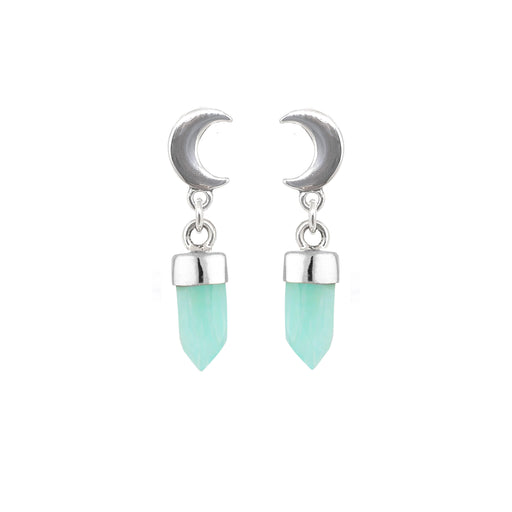 Crescent Moon Drops - Amazonite