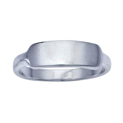 Silver Signet Ring - Bar
