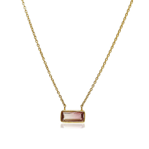 14k Medium Bio Tourmaline Pendant