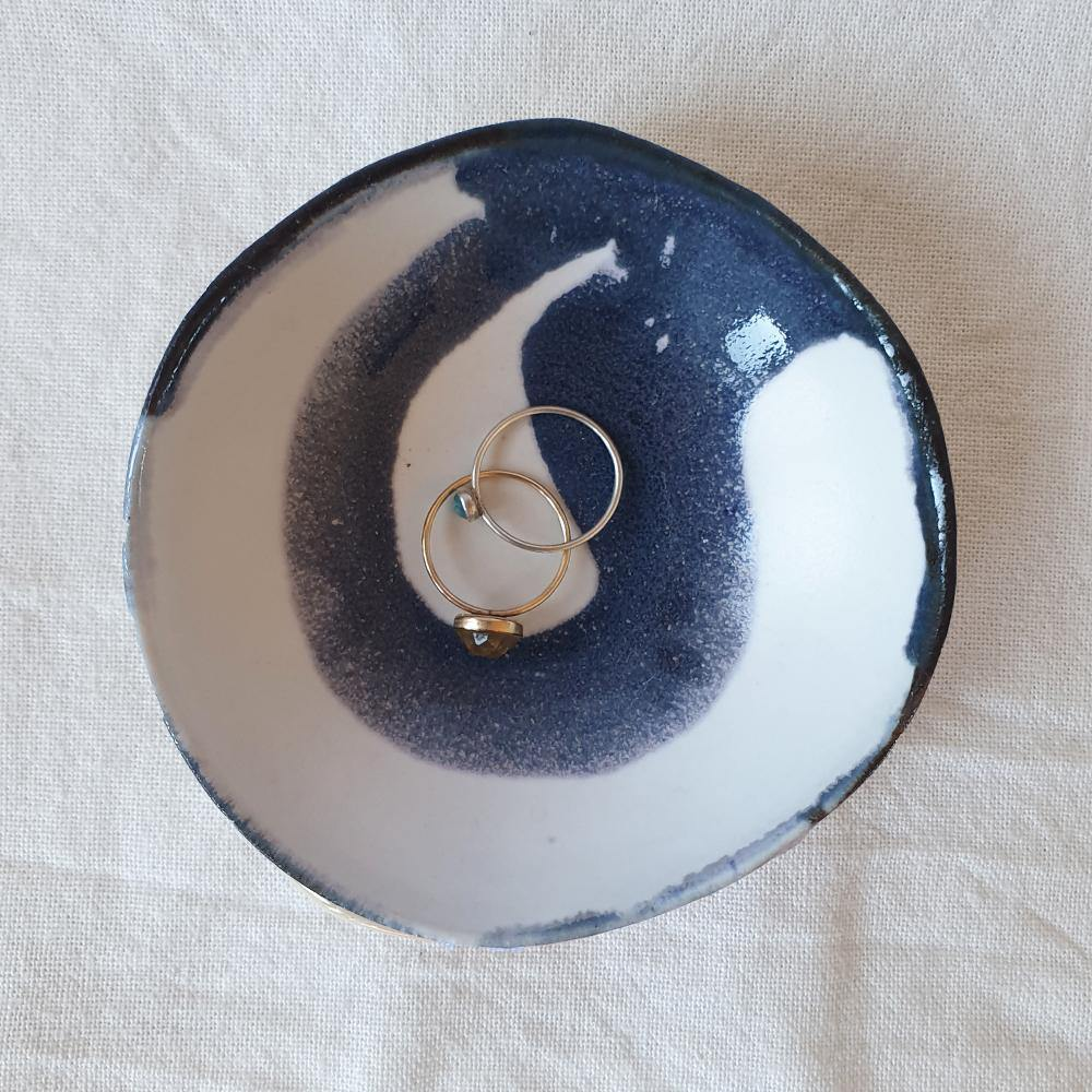 Kate Carters Jewellery Dish - Emu Egg Blue