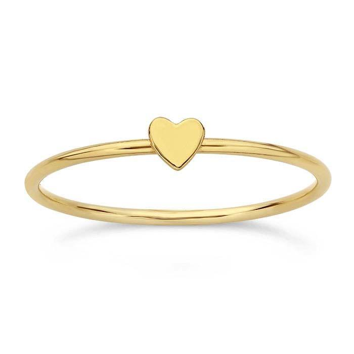 Gold Tiny Heart Ring
