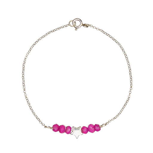 Star Bright Bracelet - Hot Pink Chalcedony