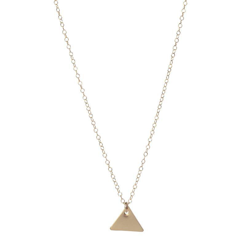 Personalised Triangle Pendant - Rose Gold