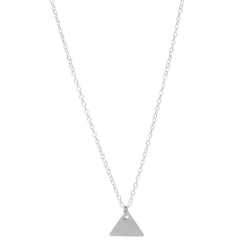 Personalised Triangle Pendant - Silver