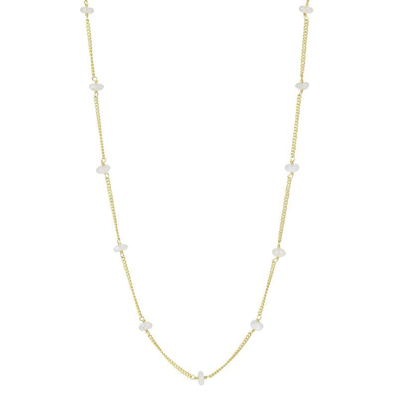 Eyewear Sunglass Chain Gold Moonstone