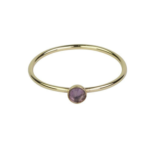 Petite Amethyst Ring - Gold