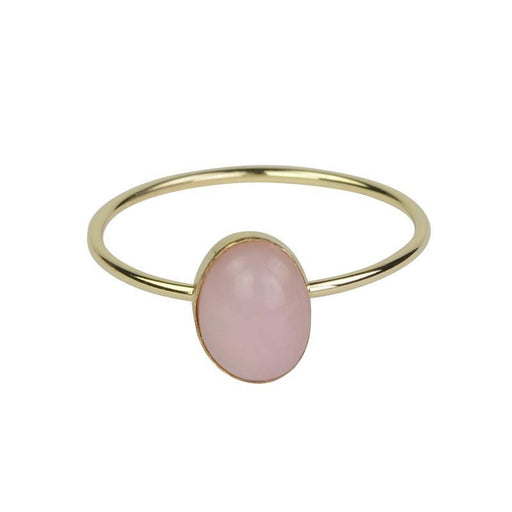 Pink Opal Ring - Gold