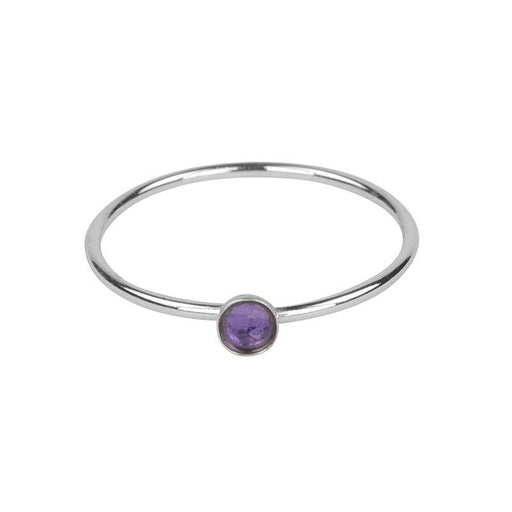 Petite Amethyst Ring - Silver