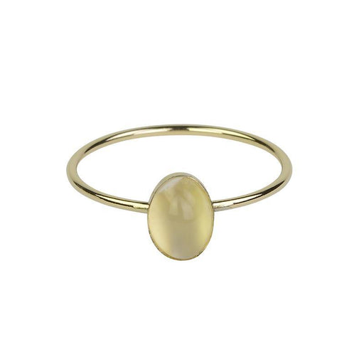 Moonstone Ring - Gold - Zoe Alexandria Jewellery