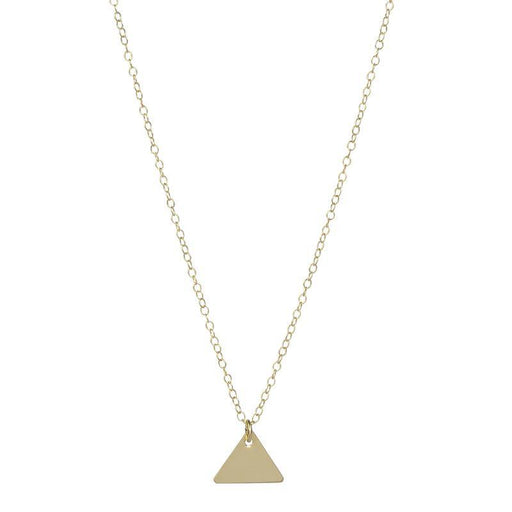 Personalised Triangle Pendant - Yellow Gold