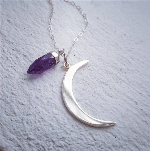 Moon Bullet Necklace