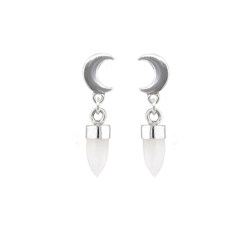 Crescent Moon Drops - Moonstone