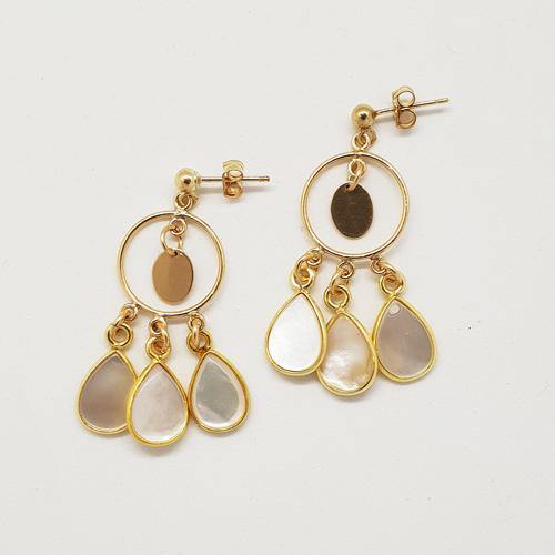 Bespoke Mother of Pearl Chandelier Earrings