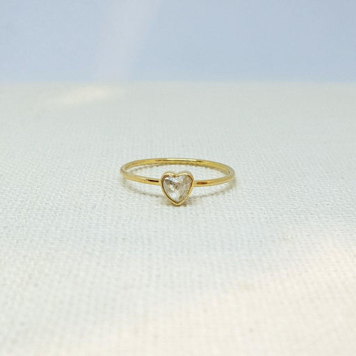 14k Rose Cut Diamond Heart Ring