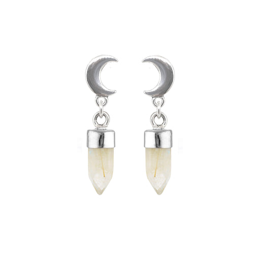 Crescent Moon Drops - Rutile Quartz
