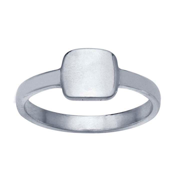 Silver Signet Ring - Square