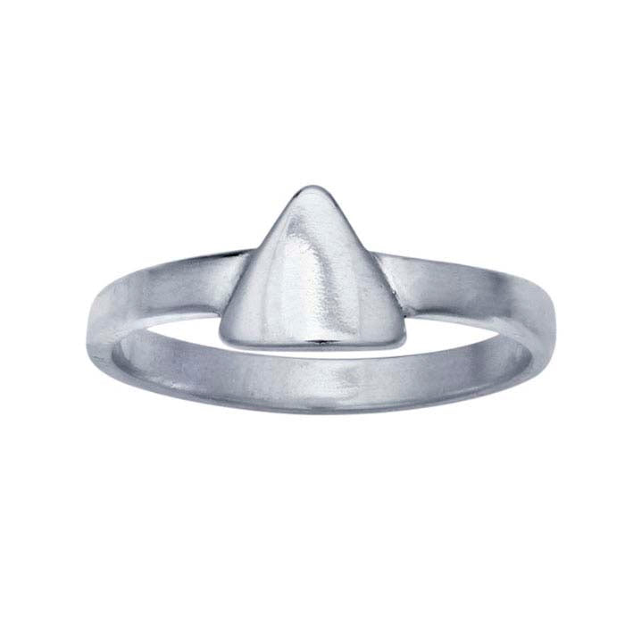 Silver Signet Ring - Triangle