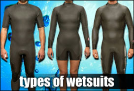 Types of Wetsuits