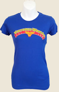 Blue Virtuous Wonder Short Sleeve Christian T-Shirt