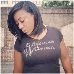 Virtuous Woman® World Famous Black Logo Tee