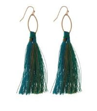 Gold Tone Two Tone Tassel Earrings