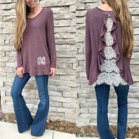 *CLEARANCE* Lace Tower Top