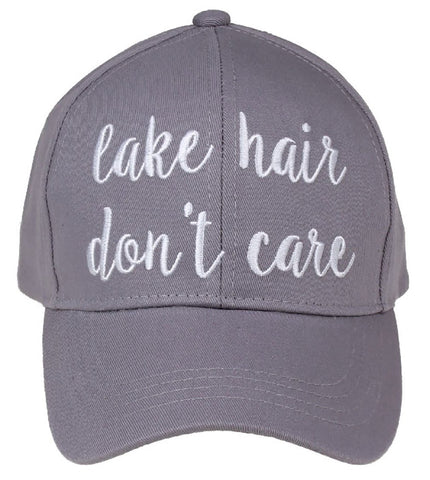 C.C. Embroidered Ponytail Hat