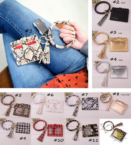 Bracelet Card Holder Key Chain