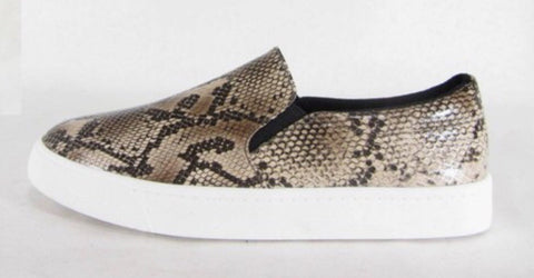 Snake Print Slide-On Sneakers