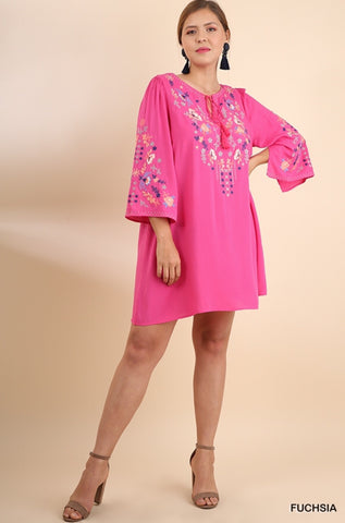 UMGEE Floral Embroidered Tunic/Dress*