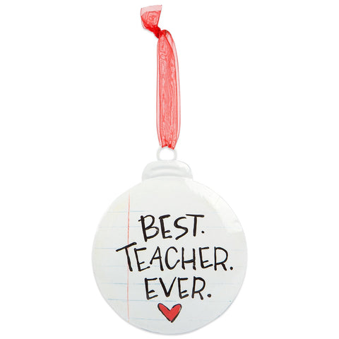 Best Teacher Ever Christmas Ornament