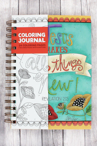 JESUS MAKES ALL THINGS NEW SCRIPTURE COLORING JOURNAL