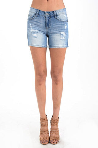 Judy Blue Jeans - PLUS Longer Destroyed Shorts