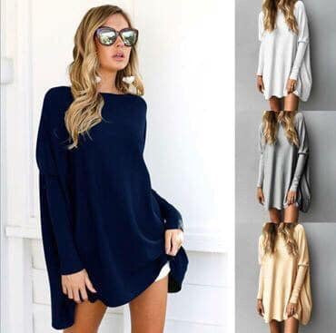 Penny Solid Oversized Tunic
