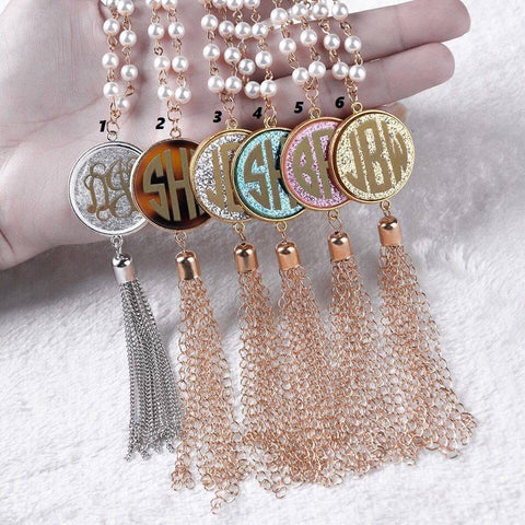 Pearl Tassel Necklace - New Colors