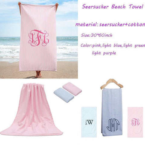 Seersucker Beach Towel