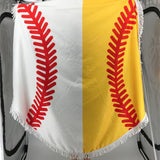 Baseball / Softball Round Beach Towel