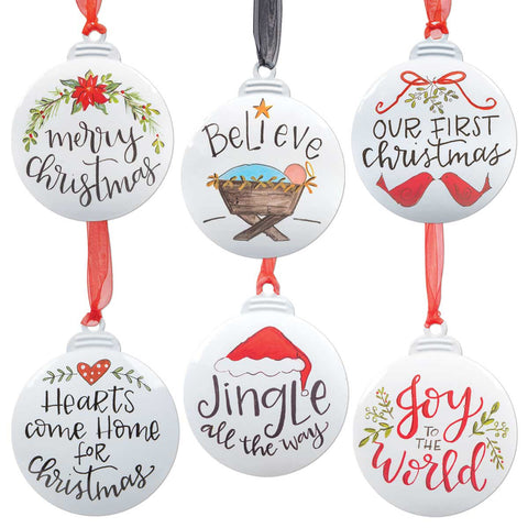 Christmas Joy Metal Ornaments