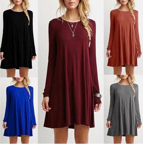 Stella Solid Color Tunic Dress*