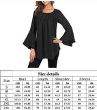 Solid Bell Sleeve Tunic